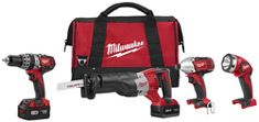 Milwaukee 2696-24 M18 18volt 4-piece tool kit